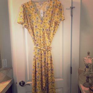 NWT LOFT Plus Wrap Dress